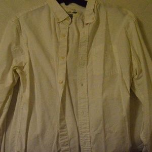 Old Navy White Button Down, Large